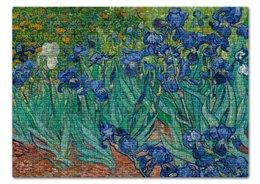 "Пазл 43.5 x 31.4 (408 элементов) ""Ирисы (Винсент Ван Гог)"" - картина, ван гог"