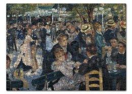 "Пазл 43.5 x 31.4 (408 элементов) ""Бал в Мулен де ла Галетт (Ренуар)"" - картина, ренуар"
