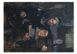 """Пазл 43.5 x 31.4 (408 элементов) """"Гамлет и Офелия (картина Михаила Врубеля)"""" - картина, живопись, шекспир, литература, врубель"""