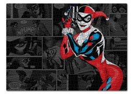 "Пазл 43.5 x 31.4 (408 элементов) ""Харли Квинн"" - комиксы, джокер, бэтмен, харли квинн, harley quinn"