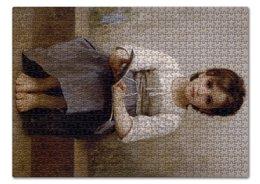 """Пазл 43.5 x 31.4 (408 элементов) """"Трудный урок (картина Вильяма Бугро)"""" - картина, академизм, живопись, школа, бугро"""