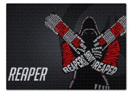 "Пазл 43.5 x 31.4 (408 элементов) ""Жнец "" - близзард, overwatch, reaper, овервотч, blizzar"