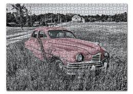"Пазл 43.5 x 31.4 (408 элементов) ""Раритет 1"" - автомобиль, машина, ретро, раритет, пейзаж"