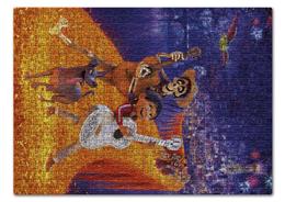 """Пазл 43.5 x 31.4 (408 элементов) """"Тайна Коко"""" - музыка, мультфильм, дисней, приключения, тайна коко"""