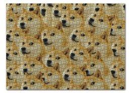 """Пазл 43.5 x 31.4 (408 элементов) """"Doge """" - doge, сиба-ину, доге, сиба"""