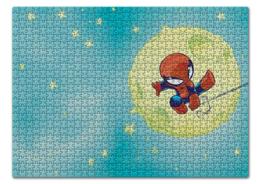 """Пазл 43.5 x 31.4 (408 элементов) """"Человек-паук (Spider-man)"""" - комиксы, марвел, человек-паук, питер паркер"""