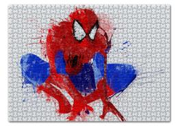 "Пазл 43.5 x 31.4 (408 элементов) ""Человек-паук (Spider-man)"" - комиксы, spider-man, марвел, человек-паук, питер паркер"