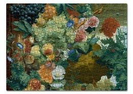 """Пазл 43.5 x 31.4 (408 элементов) """"Фрукты и цветы (Ян ван Хёйсум)"""" - цветы, картина, живопись, натюрморт, ян ван хёйсум"""