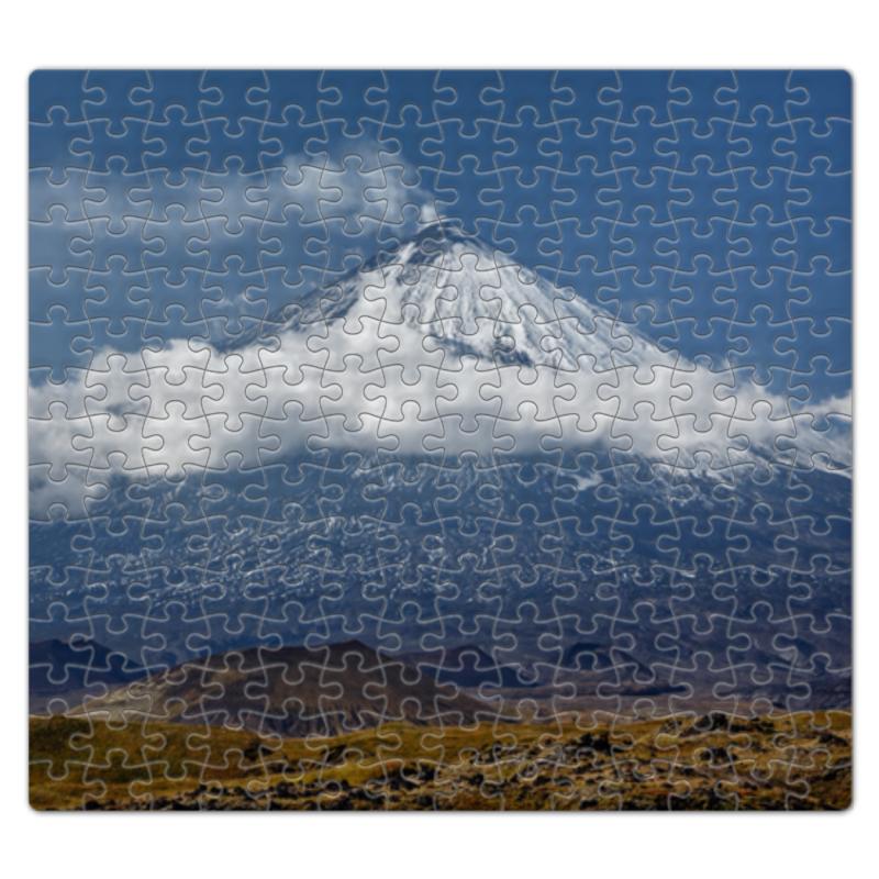Пазл магнитный 27.4 x 30.4 (210 элементов) Printio Камчатка, осенний пейзаж, извержение вулкана цена