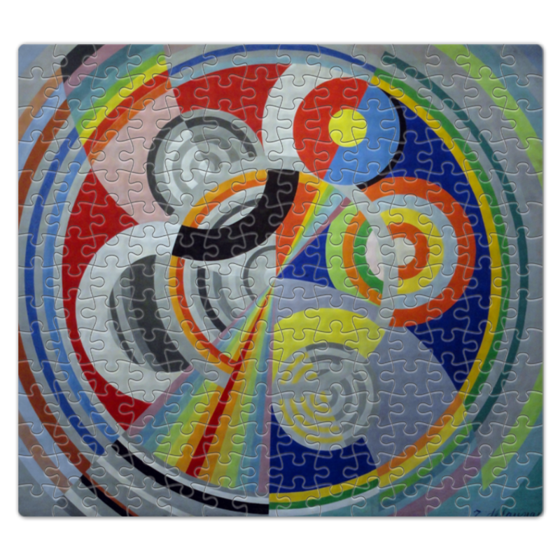 Пазл магнитный 27.4 x 30.4 (210 элементов) Printio Ритм № 1 (робер делоне) цена