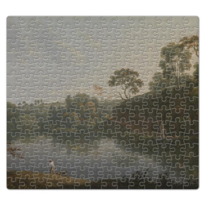 Пазл магнитный 27.4 x 30.4 (210 элементов) Printio Пейзаж с озером и лодкой (томас райт) микроволновая печь mystery mmw 1730 белый
