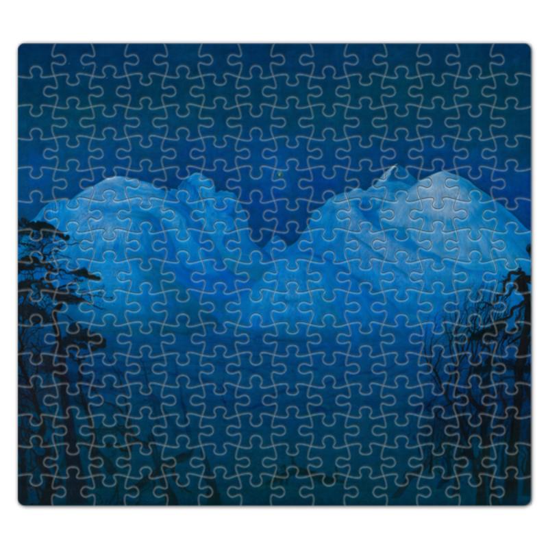 Пазл магнитный 27.4 x 30.4 (210 элементов) Printio Зимняя ночь в рондане (харальд оскар сольберг) платье женское зимняя ночь