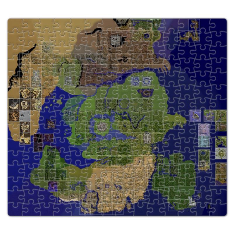 цена на Пазл магнитный 27.4 x 30.4 (210 элементов) Printio Карта мира ragnarok online