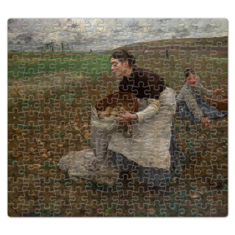 Пазл магнитный 27.4 x 30.4 (210 элементов) Printio Октябрь. сбор картофеля (жюль бастьен-лепаж)
