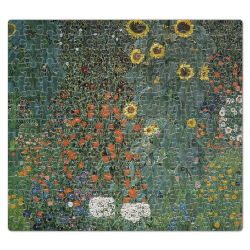 Пазл магнитный 27.4 x 30.4 (210 элементов) Printio Полисадник с подсолнухами (густав климт) тетрадь на скрепке printio полисадник с подсолнухами густав климт