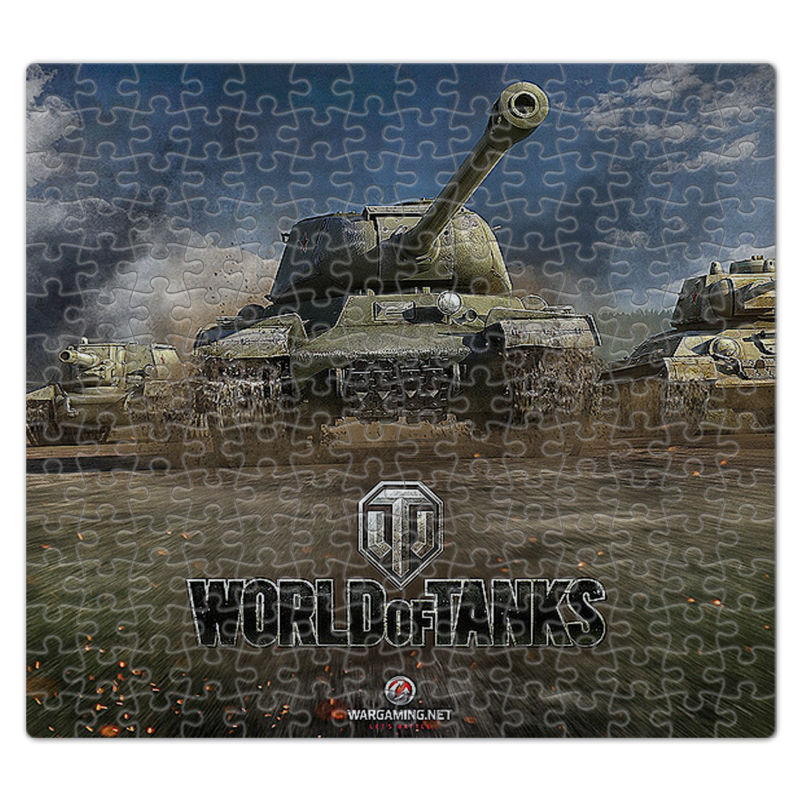 Пазл магнитный 27.4 x 30.4 (210 элементов) Printio Танки .world of tanks. видеоигры skirt red 5 10 years 100