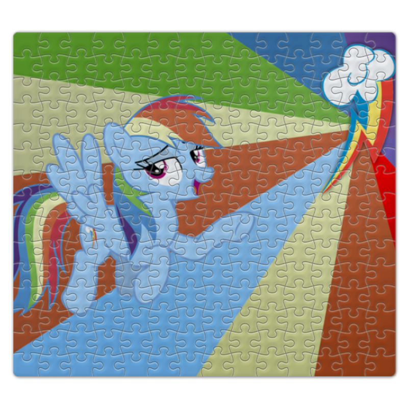 Пазл магнитный 27.4 x 30.4 (210 элементов) Printio Rainbow dash color line пазл 73 5 x 48 8 1000 элементов printio rarity color line