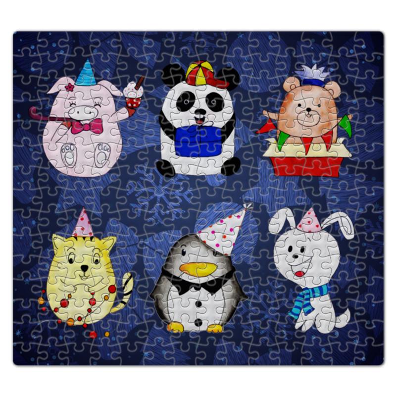Пазл магнитный 27.4 x 30.4 (210 элементов) Printio Забавные животные деревянные игрушки djeco пазл забавные животные