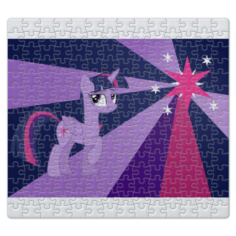 Пазл магнитный 27.4 x 30.4 (210 элементов) Printio Twilight sparkle color line пазл 73 5 x 48 8 1000 элементов printio rarity color line