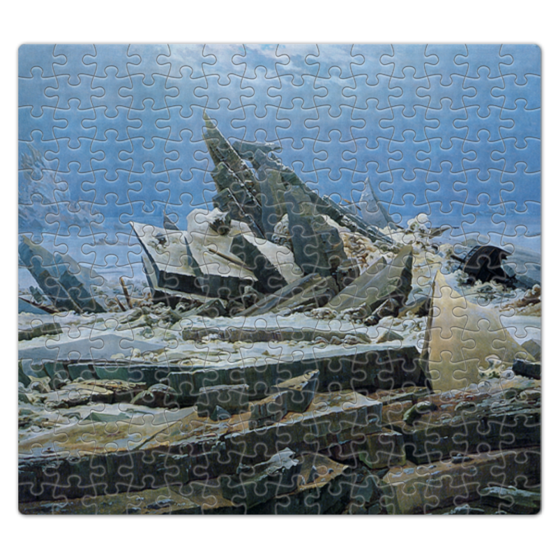 цена Пазл магнитный 27.4 x 30.4 (210 элементов) Printio Северный ледовитый океан (фридрих)