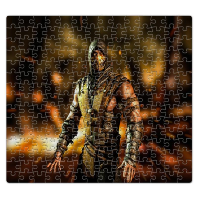 Пазл магнитный 27.4 x 30.4 (210 элементов) Printio Mortal kombat (scorpion) пазл магнитный 18 x 27 126 элементов printio пазл mortal kombat x sub zero