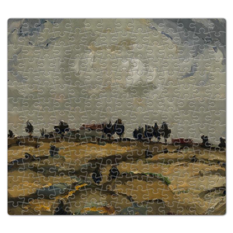 Пазл магнитный 27.4 x 30.4 (210 элементов) Printio Осенний пейзаж с облаками (аалто илмари) картина объемная пейзаж
