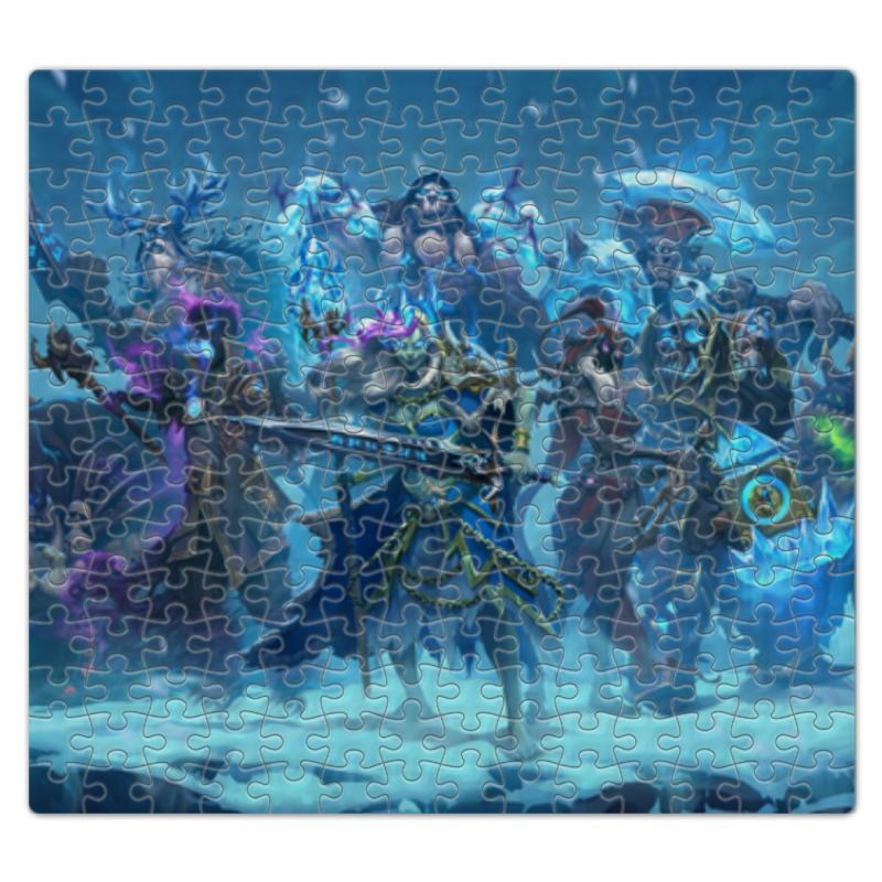 Пазл магнитный 27.4 x 30.4 (210 элементов) Printio Knights of the frozen throne the frozen deep