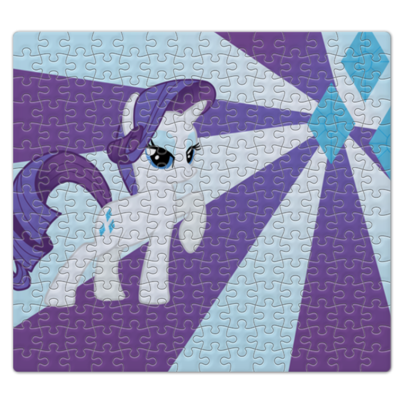 Пазл магнитный 27.4 x 30.4 (210 элементов) Printio Rarity color line пазл 73 5 x 48 8 1000 элементов printio rainbow dash color line