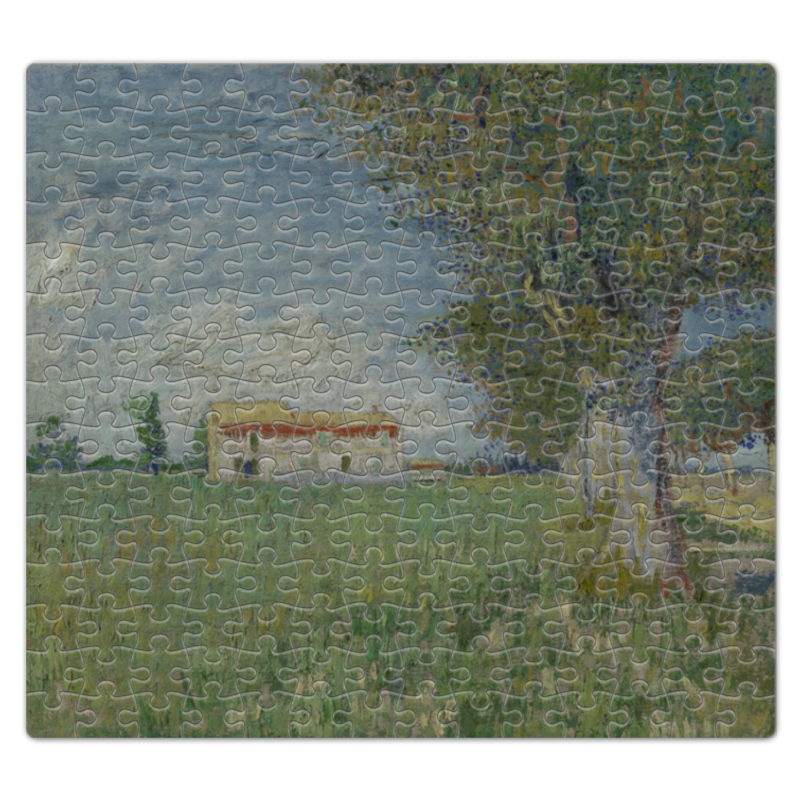 Пазл магнитный 27.4 x 30.4 (210 элементов) Printio Ферма в пшеничном поле (винсент ван гог)
