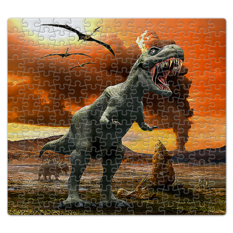 Пазл магнитный 27.4 x 30.4 (210 элементов) Printio Динозавры набор мини динозавры и пазл schleich набор мини динозавры и пазл