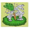 """Пазл магнитный 27.4 x 30.4 (210 элементов) """"Зайчишки с морковкой"""" - любовь, подарок, морковка, влюбленность, зайчишки"""