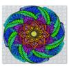 "Пазл магнитный 27.4 x 30.4 (210 элементов) ""Яркий цветок в стиле мехенди"" - цветы, рисунок, мандала, индийский, мехенди"
