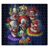 """Пазл магнитный 27.4 x 30.4 (210 элементов) """"Клоуны-злодеи"""" - ужасы, фэнтэзи, клоуны, злодеи"""