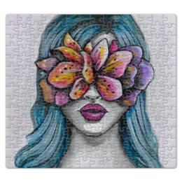 """Пазл магнитный 27.4 x 30.4 (210 элементов) """"Весна"""" - праздник, девушка, цветы, 8 марта, весна"""