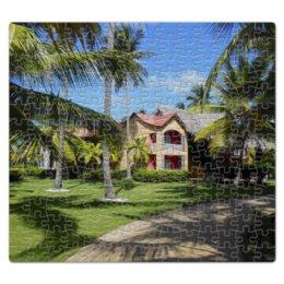 """Пазл магнитный 27.4 x 30.4 (210 элементов) """"""""Доминикана. Тропический сад"""""""" - лето, путешествия, travel, пальмы, доминикана"""