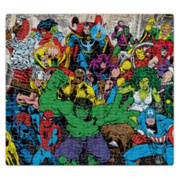 """Пазл магнитный 27.4 x 30.4 (210 элементов) """"Марвел"""" - комиксы, человек паук, железный человек, тор, халк"""