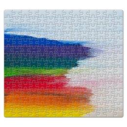 """Пазл магнитный 27.4 x 30.4 (210 элементов) """"Rainbow"""" - радуга, космос, горизонт, мазки, красочность"""