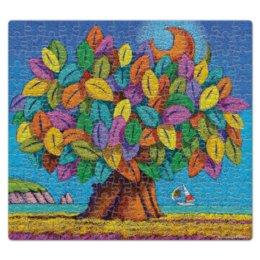 """Пазл магнитный 27.4 x 30.4 (210 элементов) """"Дерево Счастья iCALISTIni"""" - happiness, tree, дерево счастья, icalistini"""