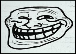"Пазл магнитный 27.4 x 30.4 (210 элементов) ""Тролль"" - паззл, тролль"