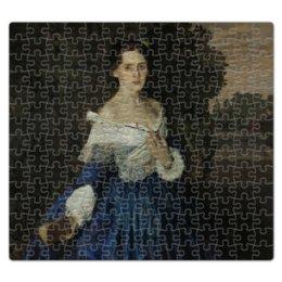"""Пазл магнитный 27.4 x 30.4 (210 элементов) """"Дама в голубом (картина Сомова)"""" - картина, портрет, живопись, модерн, сомов"""