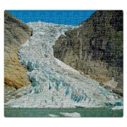 """Пазл магнитный 27.4 x 30.4 (210 элементов) """"Ледник Бриксдасбреен"""" - норвегия, ледник, ледник бриксдалсбреен"""