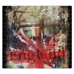 """Пазл магнитный 27.4 x 30.4 (210 элементов) """"Английский флаг"""" - uk, великобритания, английский флаг, union jack"""