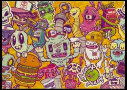 """Пазл магнитный 27.4 x 30.4 (210 элементов) """"Monsters"""" - арт, пазл"""
