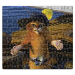 """Пазл магнитный 27.4 x 30.4 (210 элементов) """"Кот в сапогах на борту корабля"""" - шрек, корабль, кот в сапогах"""