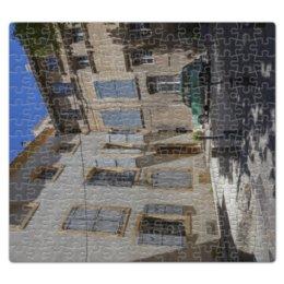 """Пазл магнитный 27.4 x 30.4 (210 элементов) """"Улица города Авиньон"""" - город, машина, франция, двор, окна"""