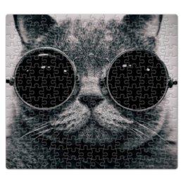 """Пазл магнитный 27.4 x 30.4 (210 элементов) """"кот в очках"""" - кот, cat, кот в очках"""
