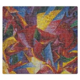 """Пазл магнитный 27.4 x 30.4 (210 элементов) """"Пластичные формы лошади (картина Умберто Боччони)"""" - картина, живопись, футуризм, кубизм, боччони"""