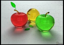 "Пазл магнитный 27.4 x 30.4 (210 элементов) ""Яблочки"" - креативно"
