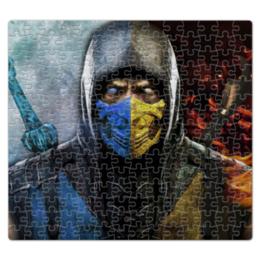 """Пазл магнитный 27.4 x 30.4 (210 элементов) """"Mortal Kombat"""" - игры, скорпион, mortal kombat, мортал комбат, саб-зиро"""