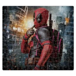 "Пазл магнитный 27.4 x 30.4 (210 элементов) ""Deadpool"" - комиксы, marvel, убийца, дэдпул"